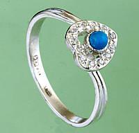 Срібний перстень з бірюзою