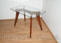 20c1e366f Купить Стол дерево + стекло Император Круг Контраст 750х900х900мм ...