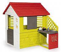 Игровой домик Дачный с летней кухней красный Smoby 810713