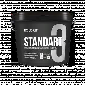 Матовая интерьерная краска Kolorit Standart 3 (Колорит Стандарт 3) база С 9 л