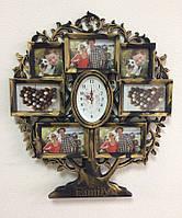 Мультирамка для фотографій Family з годинником, 1001811