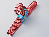 Плечики детские проволочные в порошковой покраске красные , 29,5 см, 10 штук в упаковке