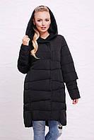 Женская куртка зимняя красная и черная в размерах 44-50