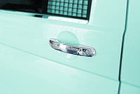 VW CADDY 2010> Накладки на ручки нерж (3шт, Omsa)