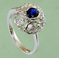Срібний перстень зі шпінеллю