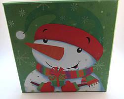 Подарочная упаковка, Коробка, Новогодняя, Снеговик