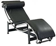 Шезлонг Лекор черный, реплика шезлонга Le Corbusier LC4 для спа-салонов, доставка бесплатная на склад Деливери