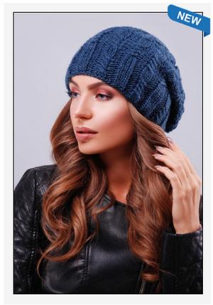 Модная шапка с красивыми текстурными узорами, фото 2