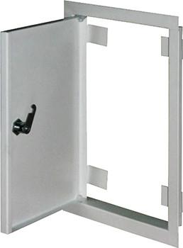 Дверцы металлические ревизионные e.mdoor.stand.350.500.z 350х500м c замком