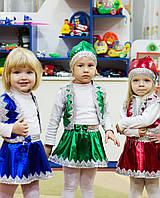 Детские карнавальные костюмы - Гномик (девочка) зелёный