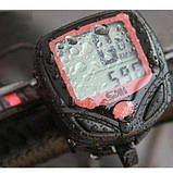 Вело комп'ютер спідометр, одометр годинник 15в1 MBI-67, фото 6