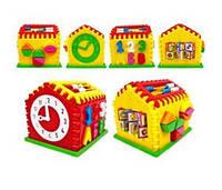 "Сортер-домик ""Часы"" со счетами  Kinder Way ,НЕО 50-301"