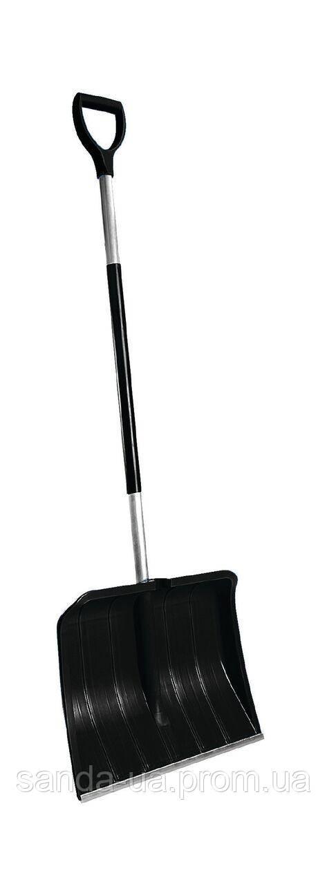 Лопата для уборки снега Snow pusher 50х145 см черная,Plastkon
