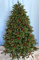 Ёлка Dewberry зеленая с декоративными шишками та ягодами ожины, 2.15 м, Triumph Tree Edelman