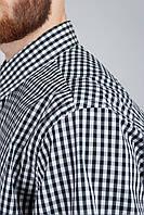 Рубашка классическая мелкая клетка 714K001-3 (Бело-черный)