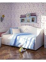 Диван-кровать для девочки София с выдвижными ящиками