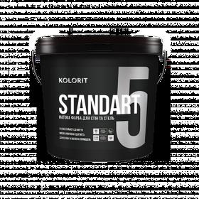 Матовая интерьерная краска Kolorit Standart 5 (Колорит Стандарт 5) база А 9 л