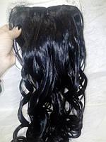 волос на заколках термо накрученный черный