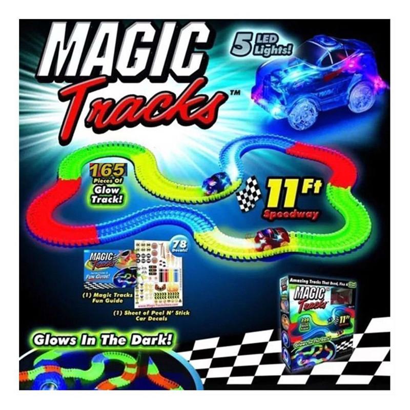 Magic Tracks 360 деталей светящейся дороги