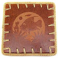 """Подставка под горячее """"Черепаха"""" терракот (23х23х0,5 см)"""