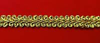 Тесьма  колосок  13 мм   люрекс  золото