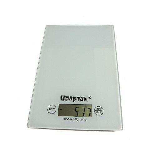 Весы кухонные электронные до 5кг Спартак CK-1912 White, фото 1