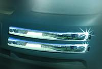 Защита переднего бампера VW Caddy 2004+ (Omsa, 4 уголка)