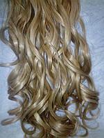 волос на заколках термо накрученные пшеница