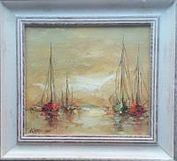 «Яхты» картина маслом