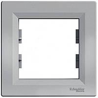 Рамка одноместная для розеток и выключателей Schneider Electric Asfora алюминий (EPH5800161)