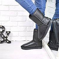 Угги женские UGG средние кожа 3850, зимняя обувь