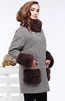 Шерстяное пальто женское.