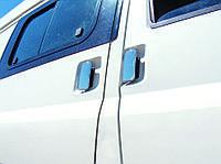 Ford Transit Накладки на дверные ручки (сталь, 3 двери, 4 части.) OmsaLine