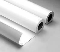 Пленка ПВХ с/к белая глянец 80мкм, 1,27*50м