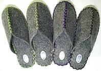Ручной работы тапочки из войлока мужские, фото 1