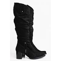 Черные стильные сапожки 6007-08ч