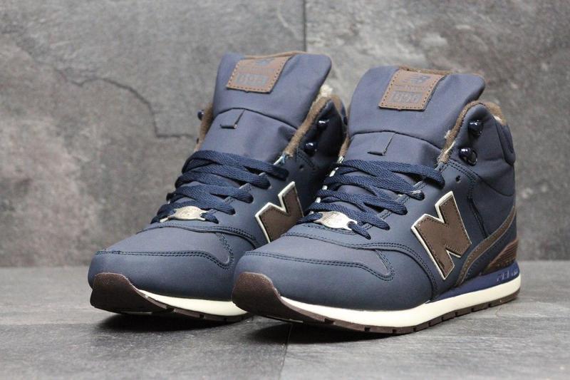 Чоловічі зимові кросівки New Balance 696 Revlite (3558) темно - сині 3db90489b9fe5