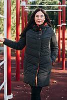 Модная зимняя куртка женскаяГрафит 60