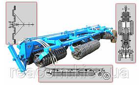 Каток зубчато-кольчатый гидрофицированный КЗК-10П