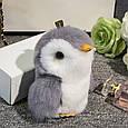Брелок Пингвин 20 см, натуральный мех, фото 5