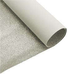 Дизайнерский картон с глиттером 50 х 70 см серебро