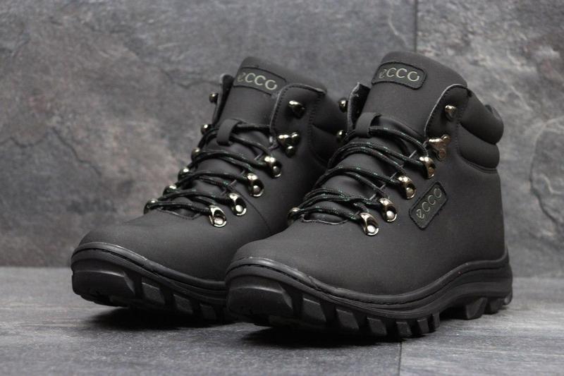 562b1774ad7a22 Чоловічі зимові черевики Ecco (3552) чорні-нубук - Камала в Хмельницком