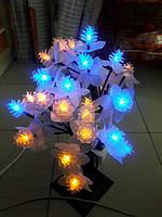 Гирлянда дерево 40см сине-желтый
