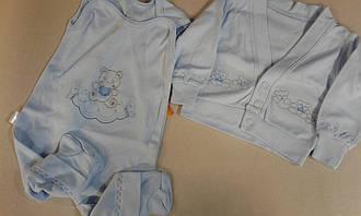 Набір для новонародженого 2пр. Вітуся 0805043, 62 блакитний інтерлок