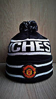 Стильная тёплая шапка с бубоном Manchester