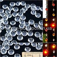 (100шт) Кристаллы для декора с отверстиями. D-8мм Цена за 100 шт.