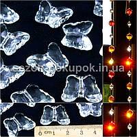 (10шт) Кристаллы для декора с отверстиями. 28х28мм Цена за 10 шт.