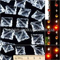 (25шт) Кристаллы для декора с отверстиями 11х11мм Цена за 25 шт.