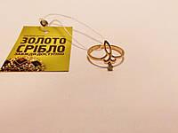 Золотое колечко с бриллиантом. Размер 17.