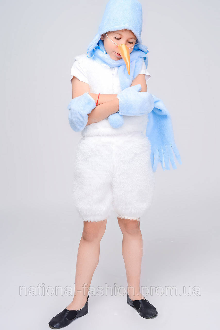 Детский карнавальный костюм «Снеговик» №1 (3-6 лет)
